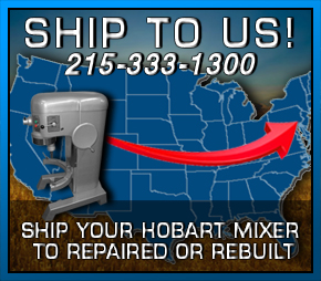 Ship your broken Hobart Mixer to Jomarc for Repair and/or Refurbishing New York, Delaware, Ohio, Maryland, Virginal, Washington DC.