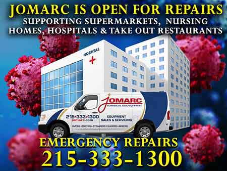 Coronavirus Commercial Food Equipment Repair South Jersey Northern Delaware Jomarc SUPPORTING Supermarkets, Nursing Homes, Hospitals & Take Out Restaurants