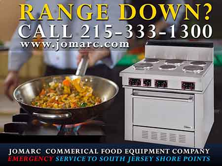 Commercial Range Repair Philadelphia Bucks County Delaware Montgomery County PA Jomarc Commercial Food Equipment Service repairs all makes and models of commercial gas & electric Ranges