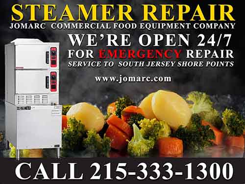 Steamer Repair Philadelphia Bucks County Delaware Montgomery Jomarc Commercial Food Equipment Service repairs all makes and models of commercial steamers